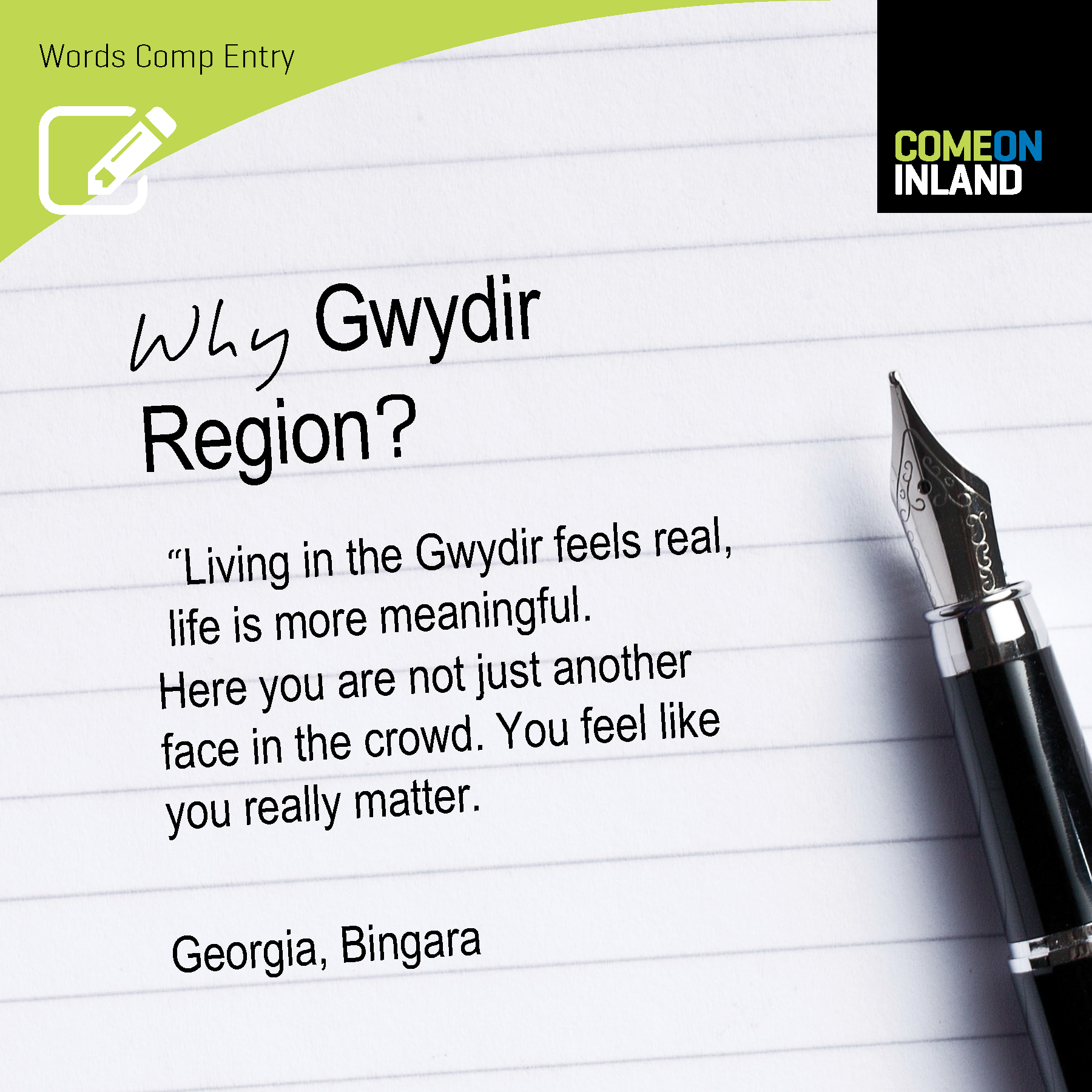 Gwydir Words Competition entry from Georgia
